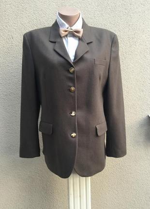 Винтаж,номерной жакет,пиджак,блейзер,коричневый,шерсть,burberry,люкс бренд,оригинал