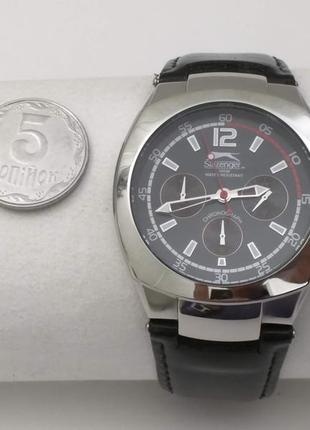 Часы slazenger, кварц, хронограф, нержавейка. англия. механизм япония.