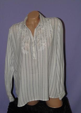 Рубашка в полоску с  вышивкой 18 размера m&co