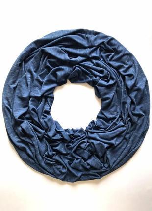 Лёгкий трикотажный вискозный шарф хомут, снуд , джинсовый меланж, c&a.
