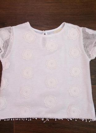 Шикарная футболка zara 2-3-4 года, 92-98-104