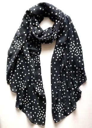 Лёгкий шарф палантин в горошек, c&a.