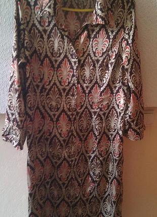 Шёлковое платье-рубашка