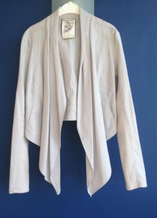 Хлопково-льняной пиджак new look