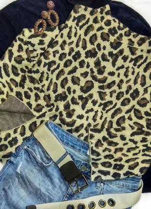 Трендовый свитерок в леопардовый принт с клешоными рукавчиками от hampton republic