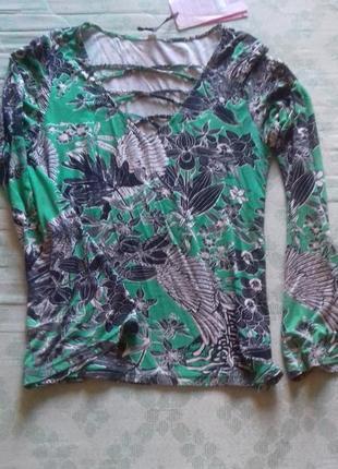 Новая брендовая кофта тропические листья
