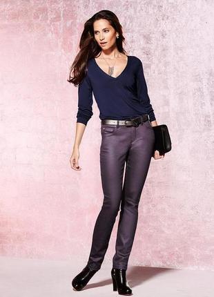 Зауженые джинсы с напылением slim fit tcm tchibo