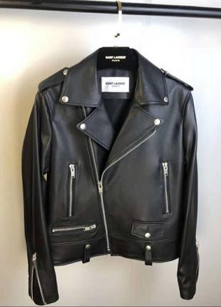 Новая мужская кожаная куртка by yves saint laurent все
