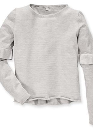 Мягусенький пуловер свитер серебристо серый 6-8 лет alive германия