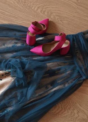 Невероятное женственное вечернее платье сетка цветы3 фото