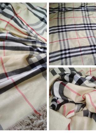 Шикарный кашемировый шарф палантин, burberry,