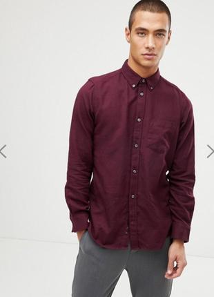 Однотонная фланелевая рубашка colins