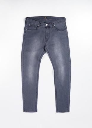Серые зауженные джинсы lee