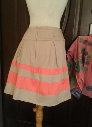 Катоновая юбка бежевая,2xl.3 фото