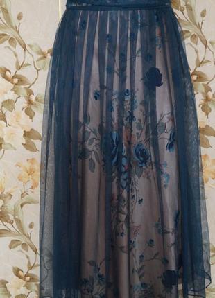 Невероятное женственное вечернее платье сетка цветы9 фото