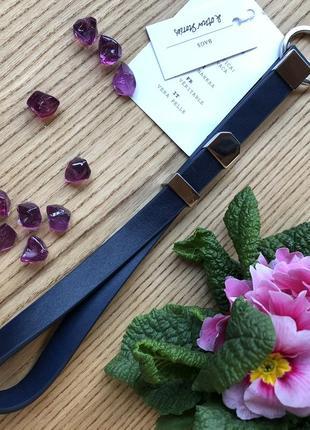 Кожаный аксессуар-брелок для ключей темно-синий &other stories