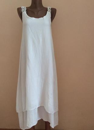 Модное платье сарафан свободного фасона разлетайка.  с м л