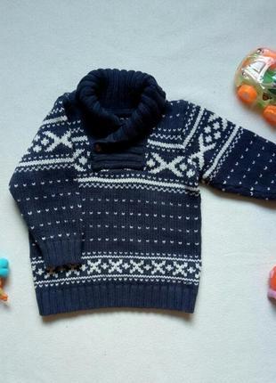 Теплый стильный свитер с воротом на пуговицу h&m