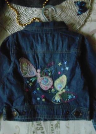 4года.шикарная джинсовая куртка пиджак.мега выбор обуви и одежды