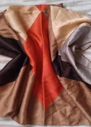 Шелковый платок tino lauri,  винтаж. италия