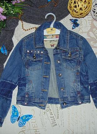 8лет.джинсовая куртка- пиджак c&a.мега выбор обуви и одежды