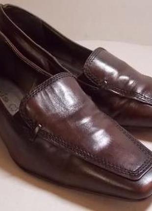 Стильные туфельки tamaris 38р натуральная кожа!оригиналы!описание.