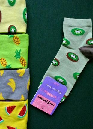 Большой выбор!носки р35-37,37-39 с рисунком, с киви.