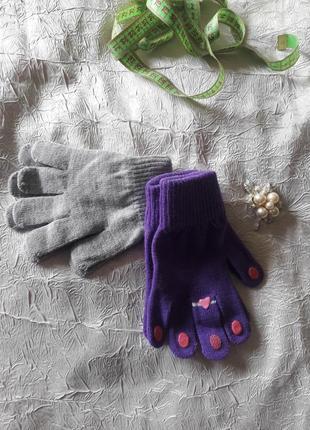 Пара демисезонных перчаток