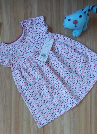 Новое фирменное платье f&f малышке 1-1,5 года в наличии  новое