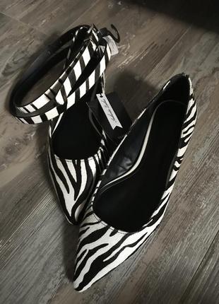 Акция 🔥супер комплект🦓 «зебра» mango, туфли + ремешок