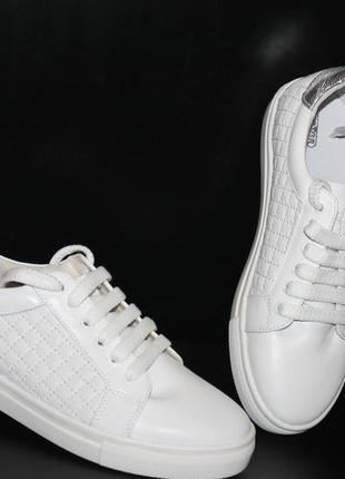 Кеды белые женские, кожа натуральная , с 36-41р3 фото