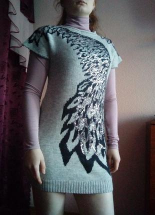 Платье зимнее, теплое, шерстяное
