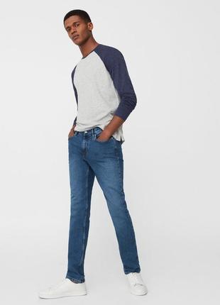 Приталені джинси від mango man розмір 30/40 та 32/42