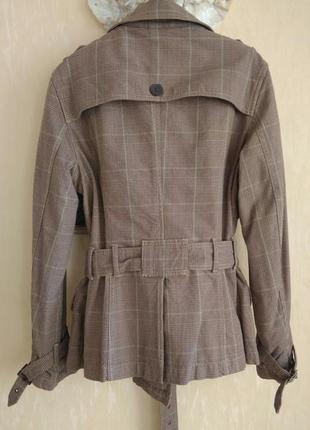 Натуральный хлопок marks&spencer стильный жакет-пиджак-кардиган-куртка в клетку
