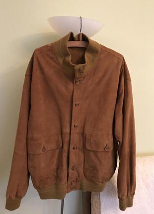 Кожаная  нубуковая куртка