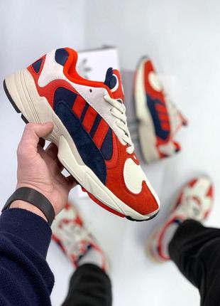 Шикарные мужские кроссовки adidas yung 1 red blue  😍 (весна/ лето/ осень)