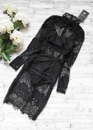 Черное платье с боди missguided