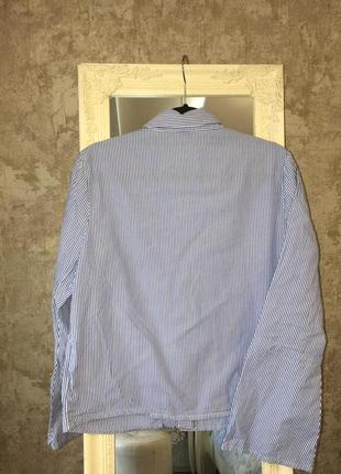 Рубашка с вышивкой в полоску4 фото