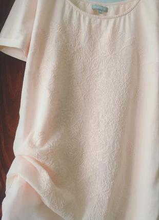 Хлопковая блузка с вышивкой мaddison футболка вышивка