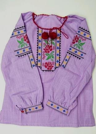 Вишиванка сорочка блуза вишита на дівчинку вышиванка вышитая рубашка