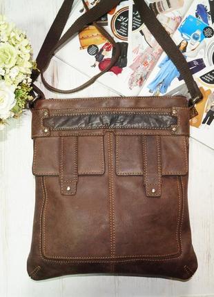 Varese. кожа. стильная фирменная сумка через плечо