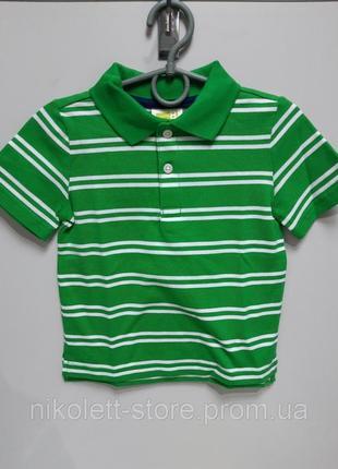 Поло детское в полоску на мальчика короткий рукав плотное футболка крейзи 8