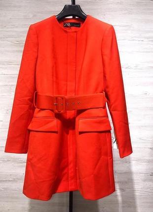 Пальто тренч пальтишко плащ пиджак zara оригинал с поясом