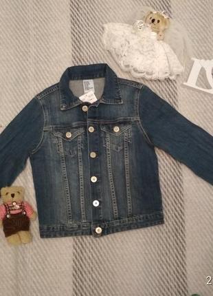 Пиджак куртка джинсовка из денима для девочки на рост 128-134