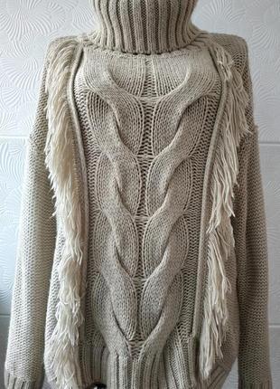 Стильный свитер tu с высоким воротником
