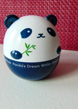 Отбеливающая и увлажняющая ночная маска tony moly panda's dream white sleeping pack