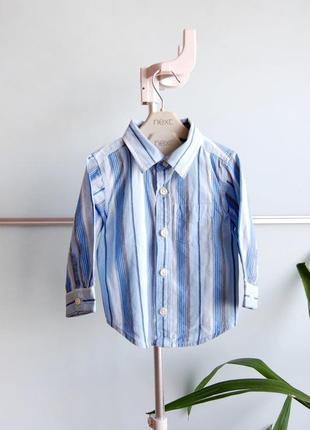 Рубашка в продольную полоску gap на 6-12м