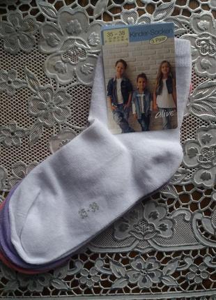 Носки для девочки alive германия р. 35-38, набор 3 пары