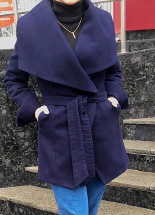 Пальто темно-синее турецкое
