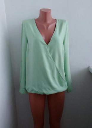 Р l-xl базовая блуза с вискозы , мятного цвета !